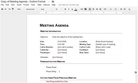 agenda template google docs agenda template best business template