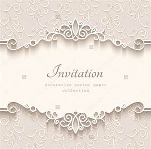 Wedding invitations free premium templates for Blank wedding invitation templates vector