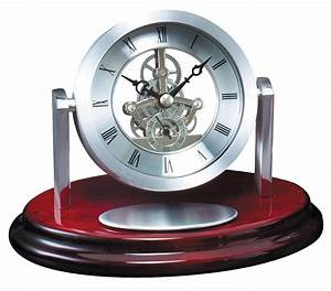 Rotating, Skeleton, Dial, Desk, Clock