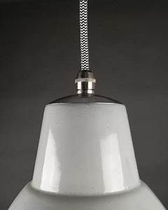 Small Grey Enamel Industrial Pendant Ceiling Light  Retro