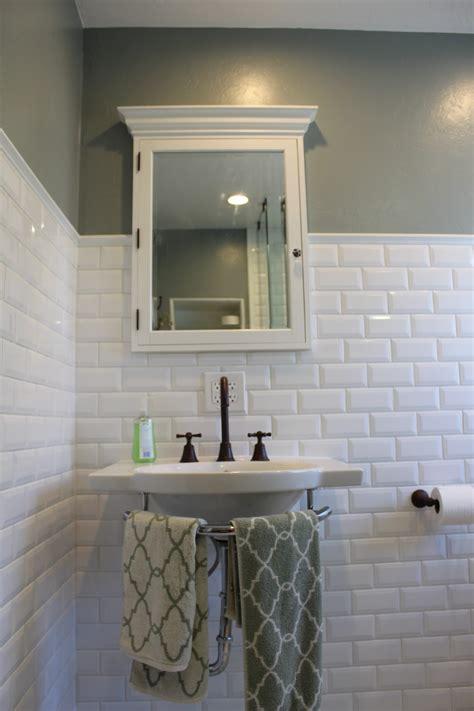 subway tile bathroom beveled white subway tile backsplash home design ideas