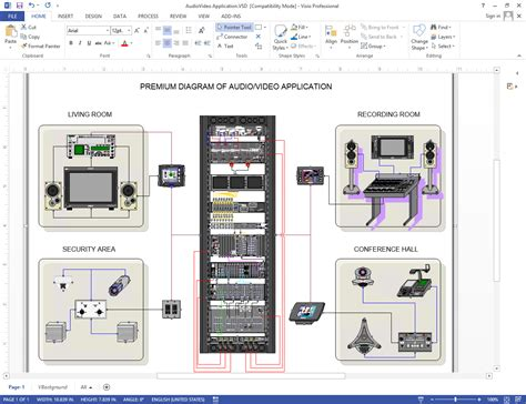 create visio audio video wiring diagrams netzoom