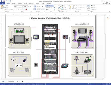 Create Visio Audio Video Wiring Diagrams Netm