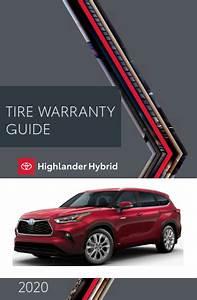 2020 Toyota Highlander Hybrid Tire Warranty Guide Free