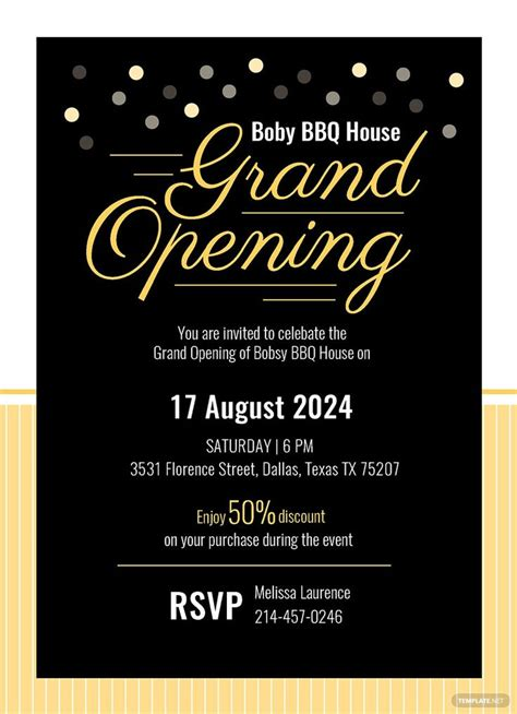 instantly   grand opening invitation card