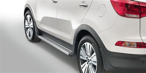 integrated side steps sportage