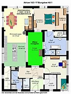 Grundriss Einfamilienhaus 200 Qm : atrium hauptseite bungalow winkelbungalow einfamilienhaus ~ Lizthompson.info Haus und Dekorationen