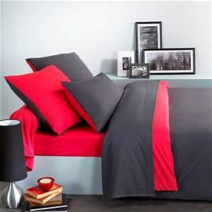 Parure De Lit Rouge : parure de drap 2 pers ecorce rouge noir 240 x 300 cm ~ Teatrodelosmanantiales.com Idées de Décoration