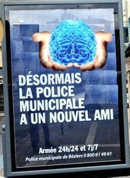 les detournements laffiche de la police municipale de beziers