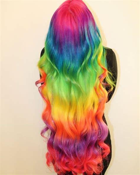 rainbow hair color 97 cool rainbow hair color ideas to rock your summer