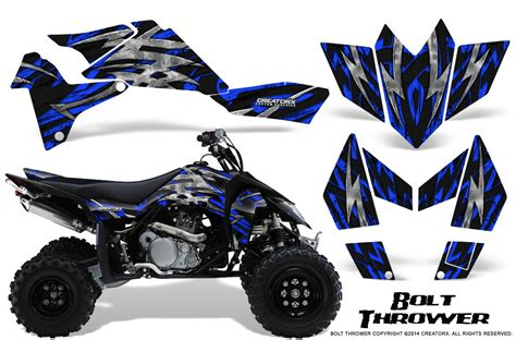 kit deco 450 ltr suzuki lt r 450 ltr450 creatorx graphics kit decals bolt thrower blue ebay