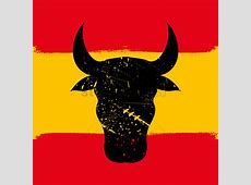 Spain flag with bull Vector Image 1565317 StockUnlimited