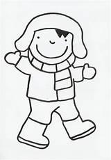 Winter Anna Sjaal Muts Handschoenen Thema Trui Kleurplaten Inkleuren Laarzen Broek Prentenboek Winterkledij Kathleen Wit Blijven Gezicht Template sketch template