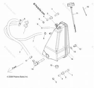 Polaris Side By Side 2013 Oem Parts Diagram For Engine  Oil Tank