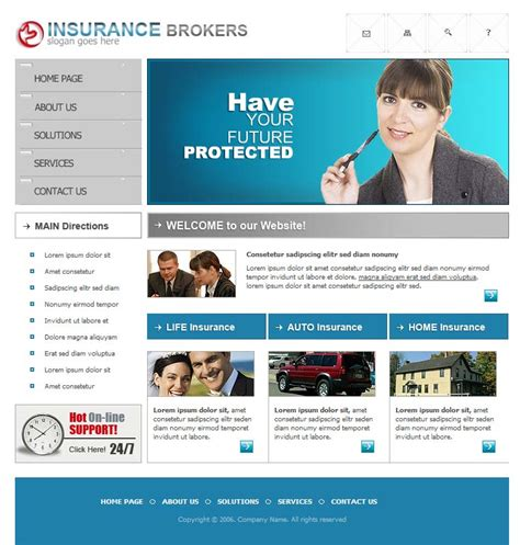 With one of insurance website templates, absolutely everyone can. Insurance website template
