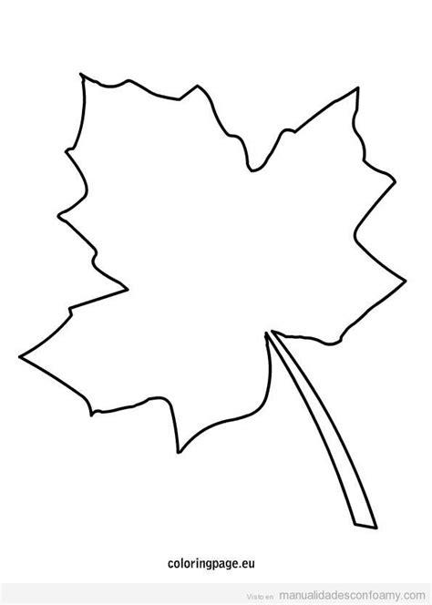 plantilla hoja arbol otono manualidades de otono