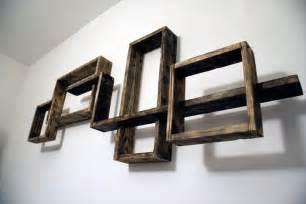 DIY Pallet Shelves Wall Unit Plan