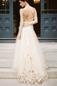 stunning white gold wedding gown a step toward glamour With wedding dresses with gold detail