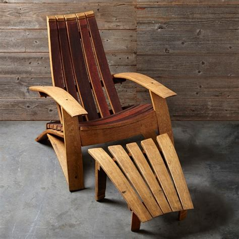 wine barrel adirondack chair ottoman williams sonoma