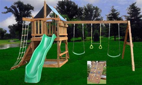 playset plans fort swing set diy  swings accessories wooden wells pinterest