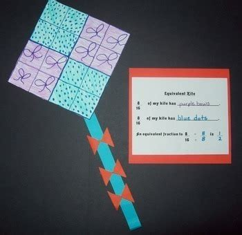 equivalent fractions kite art project  yearn  learn tpt