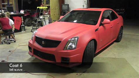 Plasti Dip Whole Car Matte Red Cadillac Cts-v