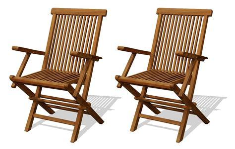 chaises avec accoudoirs chaise de jardin en teck brut avec accoudoirs lot de 2