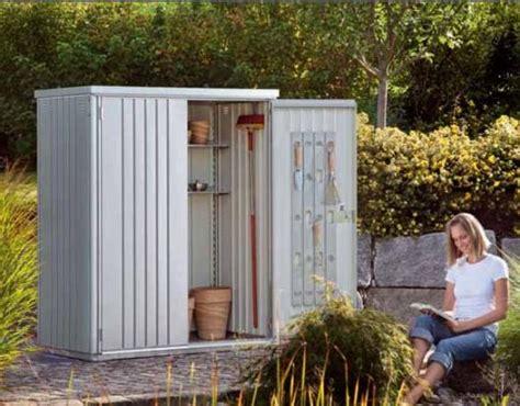 armario metalico biohort alto jardin color plata