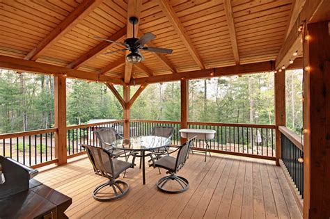Porch Covering Options by 10 Reasons To Cover Your Timber Frame Deck