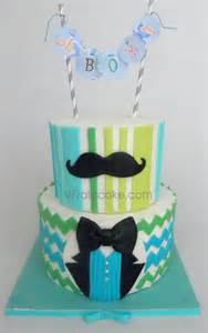 Moustache Baby Shower Cake