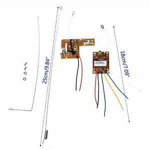 1set 4ch 40mhz Remote Transmitter  U0026 Receiver Board With Antenna For Diy Rc Car Robot Remote