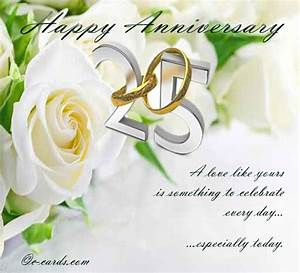 Silver wedding anniversary free to a couple ecards for Happy 25th wedding anniversary