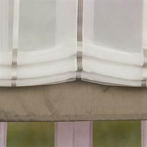 Fertiggardinen Mit Schlaufen : raffrollo rollo schlaufen wei transparent mit braunen streifen 80x140cm gardinen fertiggardinen ~ Whattoseeinmadrid.com Haus und Dekorationen