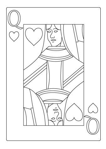 Casino « Coloring drawing | Playing cards art