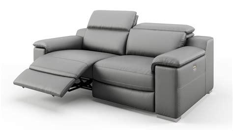 sofa leder design sofa 2 sitzer mit relaxfunktion sofanella