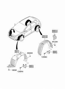 Hyundai Elantra Front Bumper Parts Diagram