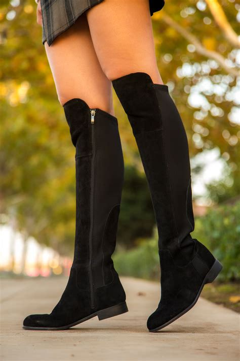 rock knee boots  tips carey fashion
