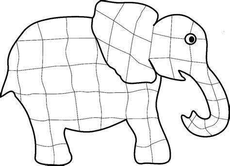 Elmer The Elephant Template by Elmer Teaching Ideas