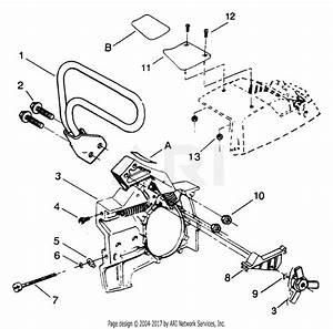 Poulan 3700 Gas Saw Parts Diagram For Chain Brake Assembly