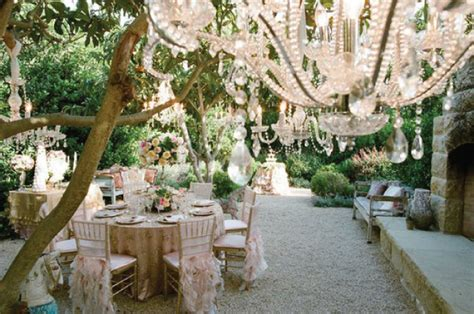 Garden Style Wedding Venues saucer of hanging wedding decor