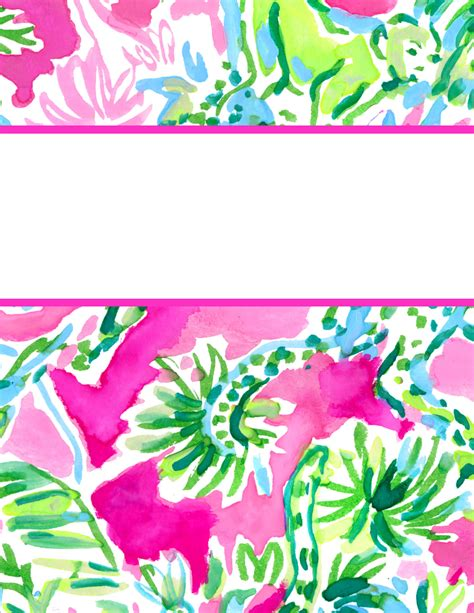 printable preppy lilly pulitzer binder covers