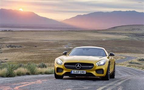 In this video old amg sls gt compare with its new model amg gtr.by watching this video your will easily understand that how new model is different from its. Yellow Mercedes-Benz SLS AMG at sunset wallpaper - Car wallpapers - #54308