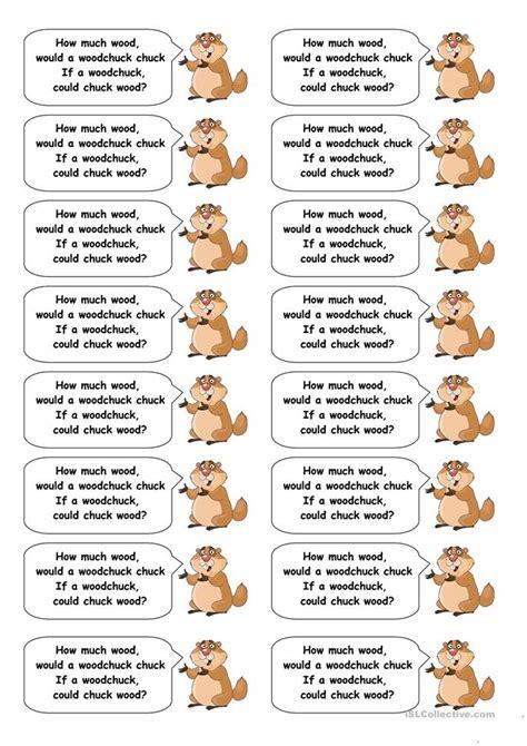 tongue twisters worksheet  esl printable worksheets
