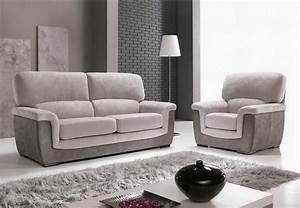 Achat canape et fauteuil galeo pas cher meublespace for Canapé convertible et fauteuil assorti