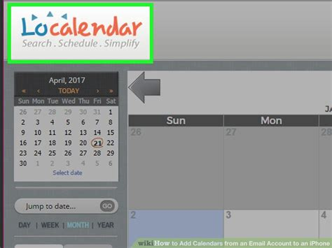 how to add calendar to iphone how to add calendars from an email account to an iphone How T