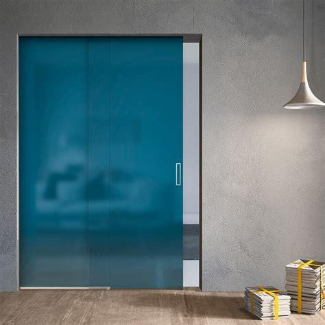 Porta Vetri Scorrevole Porta Scorrevole Plana Light In Vetro Satinato 3001