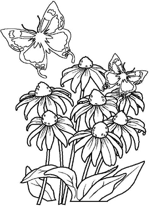 A skull full of insects, flowers and birds looking straight out of a peaceful meadow. Bouquet Of Flowers Coloring Pages for childrens printable ...