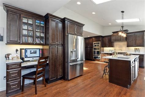 espresso kitchen cabinets with black appliances cool espresso kitchen cabinets 9645
