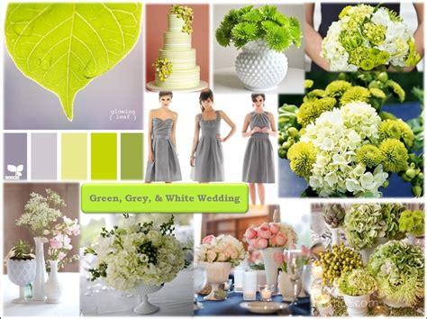 Grey, Green, & White Wedding Inspiration