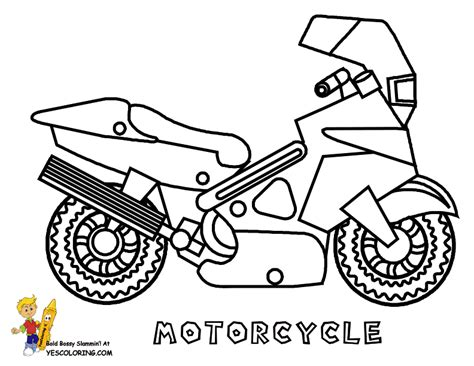 mighty motorcycle coloring page  motorcycle dirt